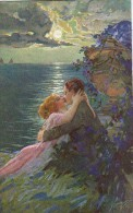 AK PAARE COUPLE LOVERS KISS  ALTE POSTKARTE - Couples