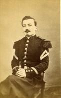 Sous Lieutenant Militaire Military Militaria France Prevot Old Photo 19' CDV - Old (before 1900)