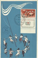 ISRAEL 1958 - MAXIMUM CARD FIRST WORLD CONGRESS OF JEWISH YOUTH W 1 ST + GUTTER 200 POSTM JUL 2,1958 NEW UNUSED REJAL356 - Maximum Cards
