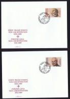 1990  Mort Du Prince Franz Joseph II Et De La Princesse Gina   Timbres Seuls Michel  988-9   FDC Non Adressés - FDC