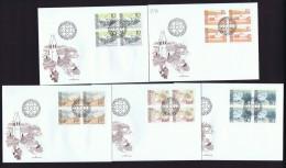 1972  Paysages     Michel  573-7  Blocs De 4    FDC Non Adressés - FDC
