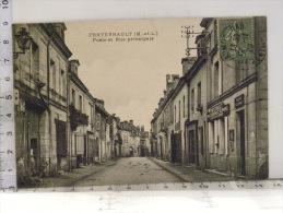 CPA (49) Maine Et Loire - FONTEVRAULT - Poste Et Rue Principale - Otros Municipios