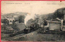 CPA 69 VILLE SUR JARNIOUX  La Gare ( Train Locomotive C/ Le Bois D´ Oingt - Sonstige Gemeinden