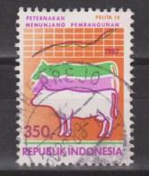 Indonesie, Indonesia 1285 Used ; Koe, Cow, La Vache, Vaca 1987 - Koeien