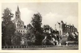 37. CPSM, Indre Et Loire, Loches, La Collégiale St-Ours Et Le Château - Loches