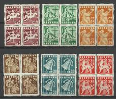 LITAUEN Lithuania1940 Michel 437 -  442 In 4-Blöcke MNH - Lituanie
