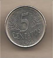 Brasile - Moneta Circolata Da 5 Centesimi - 1994 - Brasile