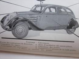 RARE Document original automobile voiture Peugeot type 402 Notice Carnet d�entretien(1935-1942)11 CV moteur transmission