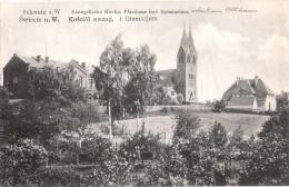 Schwetz An Der Weichsel Świecie Ev Kirche Pfarrhaus Gymnasium Ungelaufen TOP-Erhaltung - Westpreussen