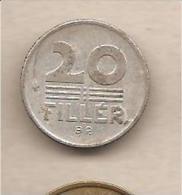 Unghria - Moneta Circolata Da 20 Filler - 1969 - Hungría