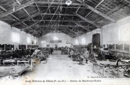 C1864 Cpa 63 Ecole Militaire De Billom - Atelier De Machines Outils - Non Classés