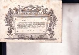 GAND Désiré BUSSO 52 Ans En 1839 Doodbericht Avis Mortuaire - Esquela