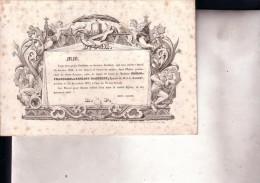GAND Marie DACHELET épouse J-B BAGUET 1758-1837 Doodbericht Avis Mortuaire - Esquela
