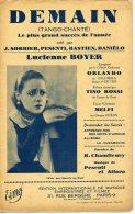 40-60 PARTITION LUCIENNE BOYER DEMAIN RARE VERSION TANGO ROSSI JEAN SORBIER BASTIEN ORLANDO MELFI PESENTI ALFARO 33 - Music & Instruments