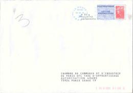 PAP POSTREPONSE LETTRE PRIORITAIRE Beaujard Ayant Voyagé - CCI PARIS - Format 162x230 - 08P573 Au Verso Voir Description - Prêts-à-poster:Answer/Beaujard