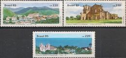 BRAZIL - COMPLETE SET UNESCO, HISTORICAL CITIES, HERITAGE 1985 - MNH - Brasil