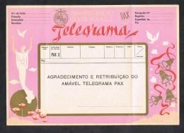 PORTUGAL TELEGRAMA SERVIÇO TELEGRAFICO BOAS FESTAS CHRISTMAS NOEL TELEGRAMME ( 2 SCANS ) - Télégraphes