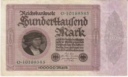 Germany #83a 100,000 Marks 1923 Banknote Currency Money - [ 3] 1918-1933: Weimarrepubliek