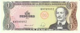 Dominican Republic #126, 1 Peso Oro 1988 Banknote Currency - Dominicana