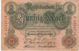 Germany #41, 50 Marks, 1910 Banknote Currency - [ 2] 1871-1918 : Duitse Rijk