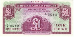United Kingdom #M36, 1 Pound 4th Issue British Armed Forces Special Voucher Banknote Currency - Militaire Uitgaven