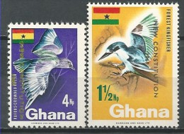 Ghana: Forest Kingfisher (Todiramphus Macleayii) And  Purple Roller (Coracias Naevius) - Autres