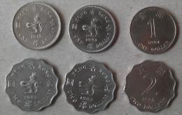Hong Kong 3x $1.00 & 3x $2.00 Coins Used - Hong Kong