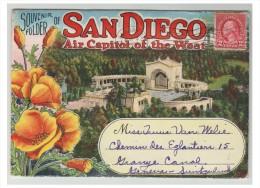 SAN DIEGO ## CALIFORNIE ## DEPLIANT DE 20 VUES A DESTINATION DE LA SUISSE ## ANNEES 30 ## TTB - Vereinigte Staaten