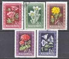 HUNGARY  906-10     (o)   FLOWERS  PEONIES - Hungary