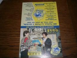 Petit calendrier de poche 1996  LA POSTE