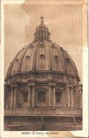 [DC5791] CARTOLINA - ROMA - SAN PIETRO - LA CUPOLA - Viaggiata 1926 - Old Postcar - San Pietro