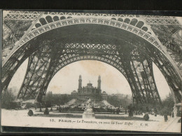 Cpa  De 1926 N°15.  PARIS . Le Trocadéro, Vu Sous La Tour Eiffel - France