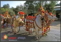 MYANMAR (BURMA) - Yangon Airways - Cartolina Non Viaggiata Come Da Scansione - Myanmar (Burma)