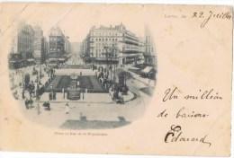 Cpa  LYON Place Et Rue De La Republique - Lyon