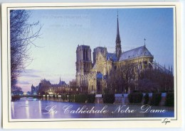 Paris - La Cathédrale Notre-Dame - 1991 éd. LYNA - Utilisée Pour Concours - 2 Scans - Notre Dame De Paris