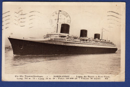 """72 LE HAVRE Cie Gle Transatlantique, """"le Normandie"""" Ligne Du Havre à New-York - Dampfer"""