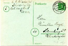 All. Besetz. (Sowj. Zone) Mecklenburg-Vorpommern amtl. GZS  P6c, 6Pf gr�n, blaugr�n  gest. 5,2.46 SCHWERIN
