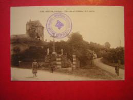 CPA OU CPSM  72 BALLON Sarthe  CALVAIRE ET CHATEAU  ANIMEE   NON VOYAGEE - France