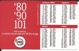 CAL619 - CALENDARIETTO 2007 - RADIO R101