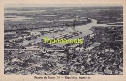 CPA ARGENTINE ARGENTINA PUERTO DE SANTA FE REPUBLICA ARGENTINA - Argentine