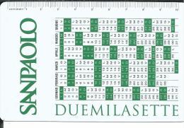 CAL620 - CALENDARIETTO 2007 - SANPAOLO