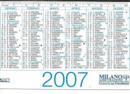 CAL624 - CALENDARIETTO 2007 - MILANO LP ASSICURAZIONI