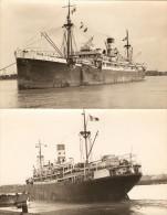 lot de 2 photographies du paquebot mixte Cap Saint-Jacques, des Chargeurs R�unis, photos vers 1950