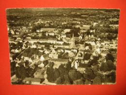 CPSM  PHOTO GLACEE  56  Morbihan   CLEGUEREC  VUE D'ENSEMBLE      VOYAGEE 1959 TIMBRE - Cleguerec