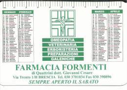CAL630- CALENDARIETTO 2007 - FARMACIA FORMENTI - BRESCIA