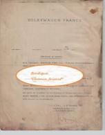 Document  Du 29/11/1963 VOLKSWAGEN France - Certificat De Travail - Cars