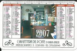 CAL631- CALENDARIETTO 2007 - CAFFETTERIA DEL PONTE - SORA (FR)