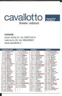 CAL636- CALENDARIETTO 2007 - LIBRERIE CAVALLOTTO - CATANIA