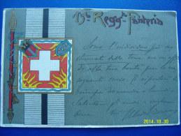 CARTOLINA MILITARE  (ORIGINALE) 15°  REGGIMENTO  FANTERIA     VIAGGIATA - Régiments