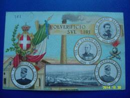 CARTOLINA MILITARE  (ORIGINALE)  POLVERIFICIO SVL LIRI (CARTOLINA NUMERATA 161 DI 500) NON VIAGGIATA - Régiments
